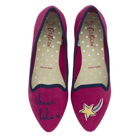 NOVELTY EMBROIDERED PUMP CERISE