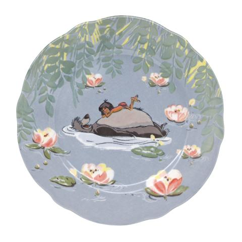 DISNEY PLATE WATERLILY RIVER