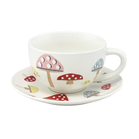 Mini Mushrooms Cup and Saucer