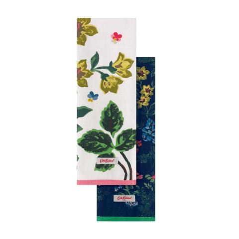 S2 TEA TOWELS TWILIGHT GARDEN