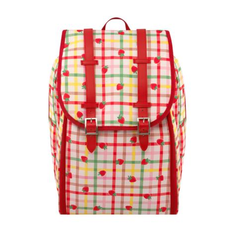 PICNIC BACKPACK STRAWBERRY GINGHAM