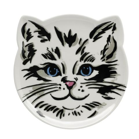 DECORATIVE CAT HEAD SHAPED PLATE