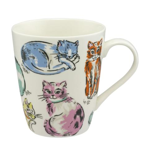 STANLEY MUG CATS CREAM