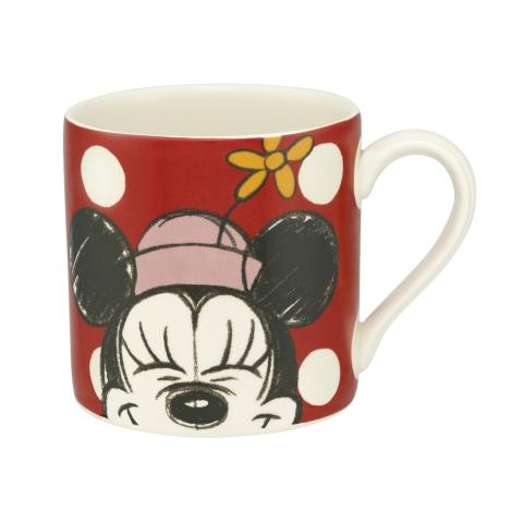 Disney Placement Mug Minnie Mickey & Friends Placement Bright Red