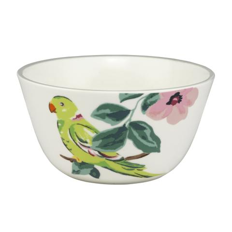 PARAKEET CEREAL BOWL PARK WILDLIFE PLACEMENT 16 LIGHT GREY
