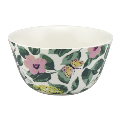MORNINGTON LEAVES CEREAL BOWL MORNINGTON LEAVES OFF WHITE GREEN
