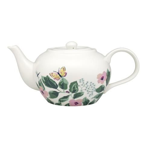 TEAPOT MORNINGTON LEAVES OFF WHITE GREEN