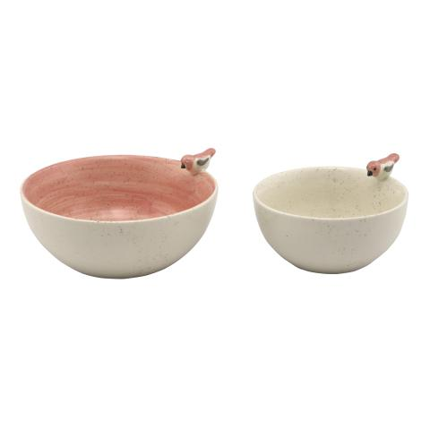 PLAIN MULTI BIRD BOWL SET OF TWO