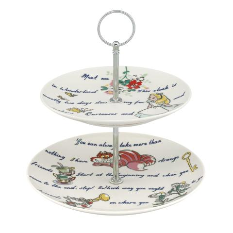 DISNEY CAKE STAND ALICE`S WORDS LIGHT CREAM