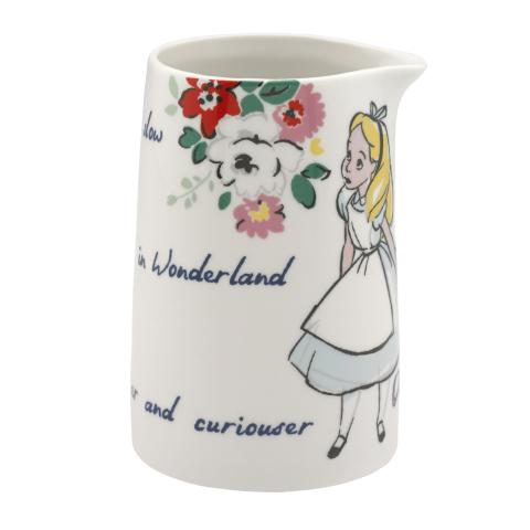DISNEY JUG VASE ALICE`S WORDS LIGHT CREAM