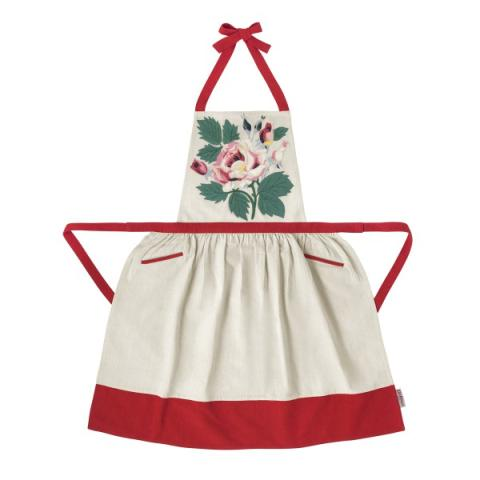 PINAFORE APRON EIDERDOWN ROSE
