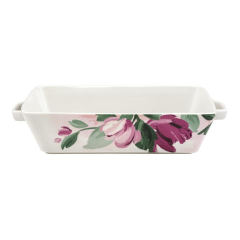 DISH LARGE PAINTBOX FLOWERS