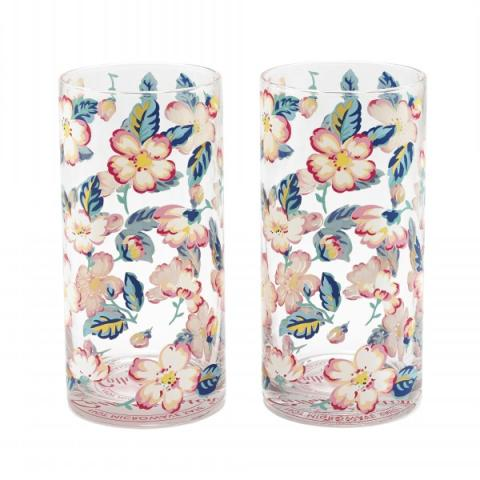 SET OF TWO TUMBLERS CLIMBING BLOSSOM