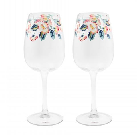 SET OF TWO WINE GLASSES CLIMBING BLOSSOM