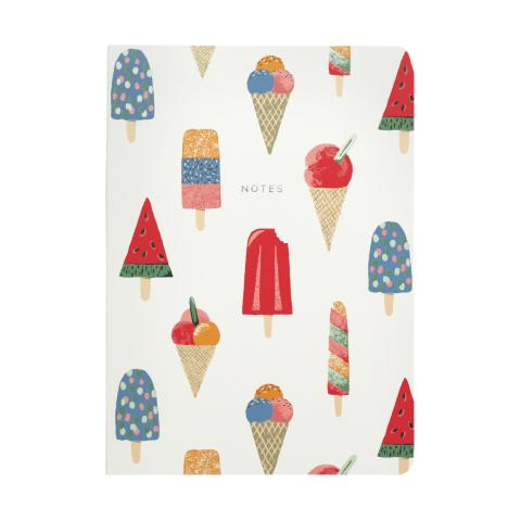 SOFT COVER NOTEBOOK ICE CREAM STONE