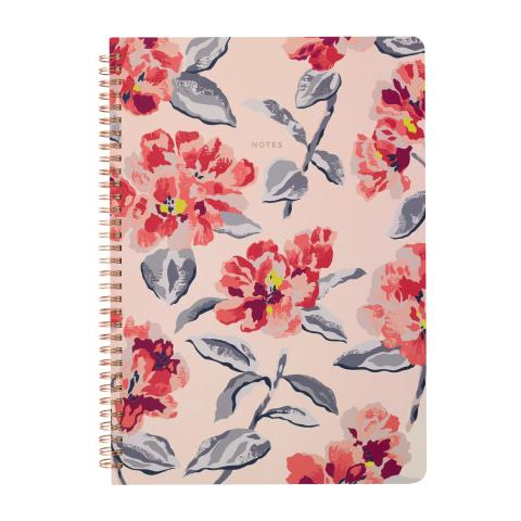 A4 SPIRAL BOUND NOTEBOOK SPRING BLOOM PLASTER PINK