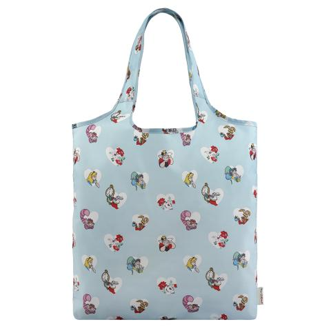 ALICE HEARTS COOL BLUE DISNEY FOLDAWAY SHOPPER