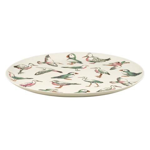 BAMBOO TRAY SEA BIRDS STONE