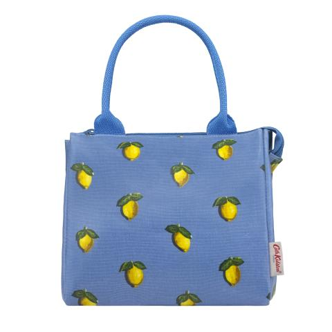 NEW LUNCH TOTE LITTLE LEMONS RIVIERA BLUE