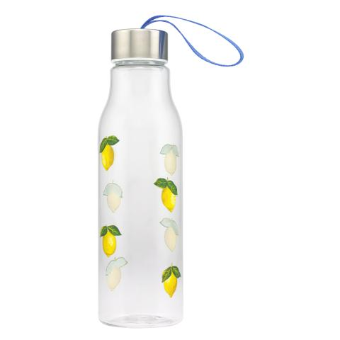 LANYARD WATER BOTTLE  LITTLE LEMONS RIVIERA BLUE