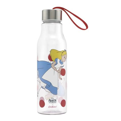 FALLING ALICE LIGHT CREAM DISNEY LANYARD WATER BOTTLE