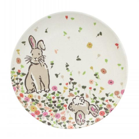 BAMBOO PLATE BUNNY MEADOW
