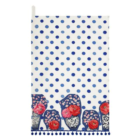 PLACEMENT TEA TOWEL INKY SPOT CREAM