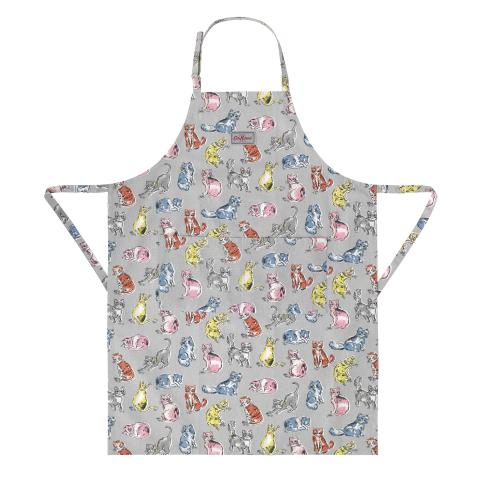 APRON CATS LIGHT GREY