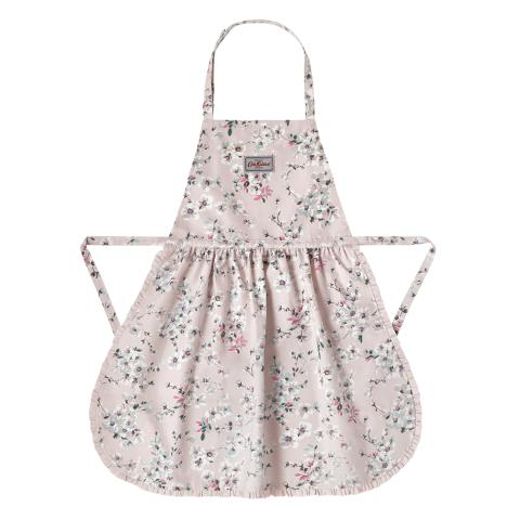 FRILLED APRON WELLESLEY BLOSSOM BLUSH PINK
