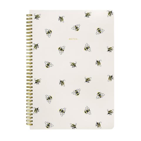 A4 SPIRAL NOTEPAD BUMBLE BEE