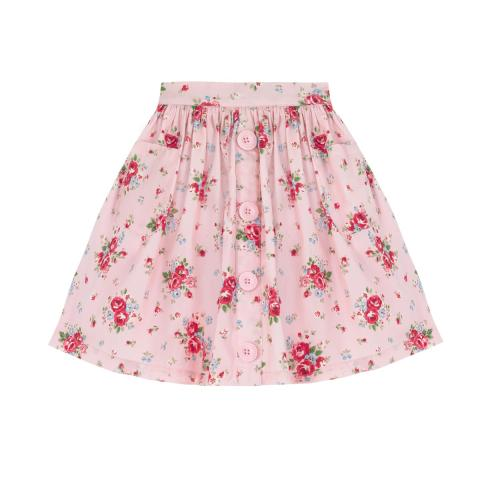 Notting Hill Rose Button Down Skirt