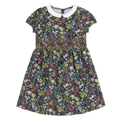 Flower Meadow Smocked Waist Dress
