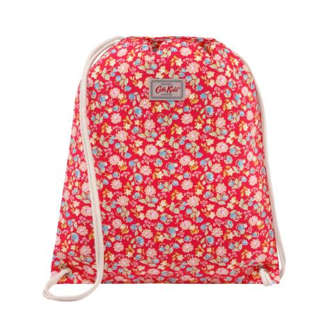 DRAWSTRING BAG STRAWBERRIES AND FLOWERS
