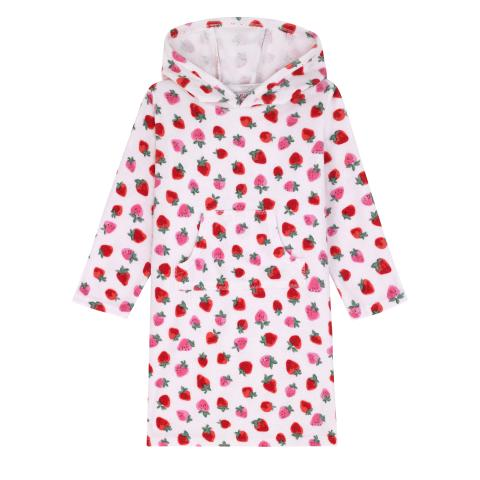 HOODED TOWEL SWEET STRAWBERRY 2-3