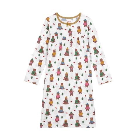 Kids LS Jersey Nightie Woodland Bear