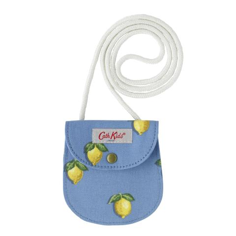 JUNIOR GIRLS PURSE WITH STRAP LITTLE LEMONS RIVIERA BLUE