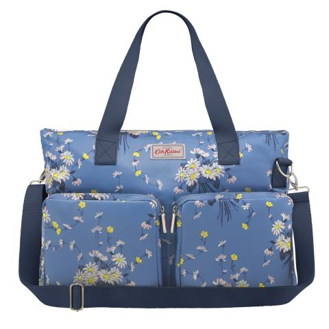 EVERYDAY CHANGING BAG DAISIES & BUTTERCUPS RIVIERA BLUE