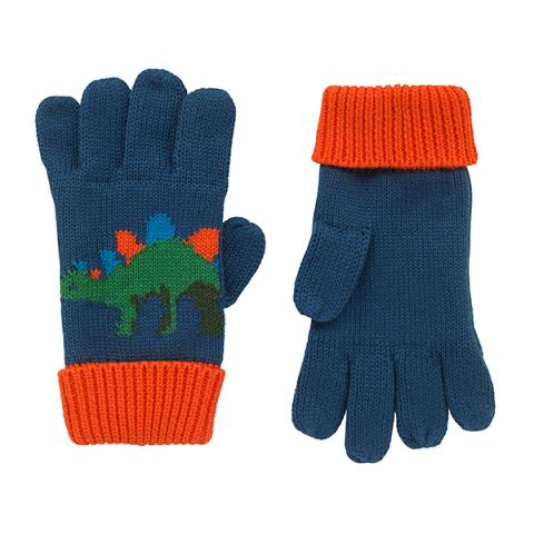 KNITTED DINOSAUR GLOVES FREE