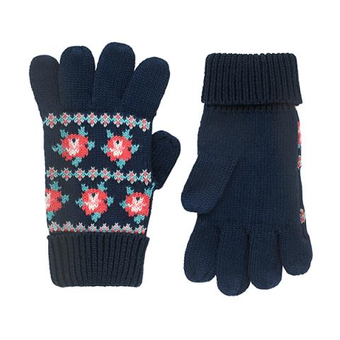 KNITTED FAIRISLE GLOVES FREE