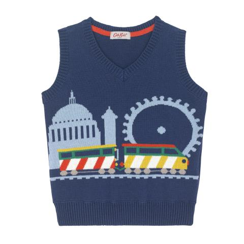 KNITTED TRAIN TANK 4-5 Y