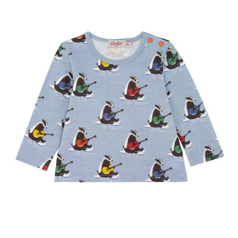 BABY LS TSHIRT MUSICAL BADGERS