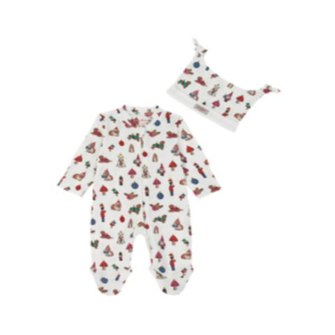 SLEEPSUIT HAT MINI BAUBLES 3-6 M