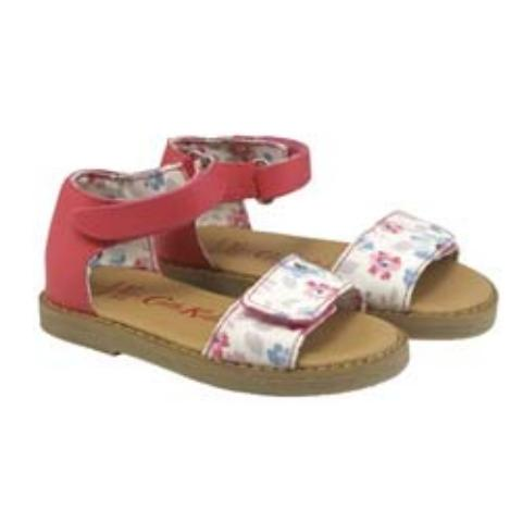KIDS SANDAL ISLAND FLOWERS CREAM LILAC UK 10