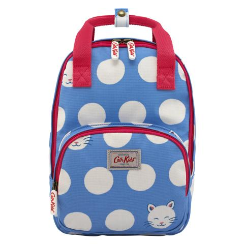 KIDS MEDIUM BACKPACK CUTE CATS CORNFLOWER