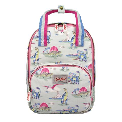 KIDS MEDIUM BACKPACK WITH CHEST STRAP DINO MINT