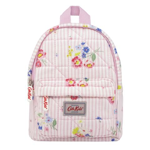 KIDS QUILTED BACKPACK WITH CHEST STRAP PICKERING POSY OFF WHITE PINK