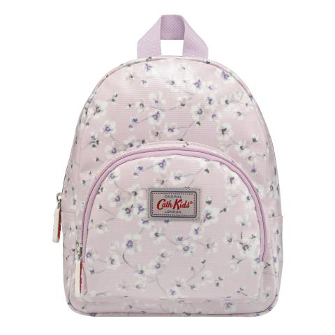 KIDS MINI RUCKSACK WITH CHEST STRAP WELLESLEY DITSY BLUSH PINK