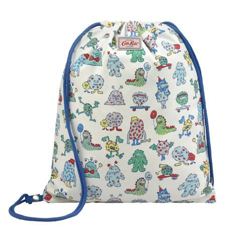 KIDS SCREEN PRINT REVERSIBLE DRAWSTRING BAG PLAIN WITH PLACEMENT PRINT BLUE