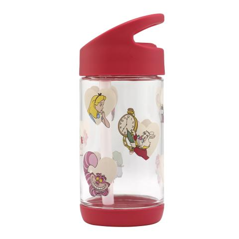 ALICE HEARTS LIGHT RED DISNEY GIRLS DRINKING BOTTLE