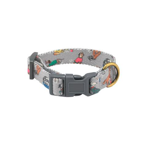 Novelty Dog Fabric printed collar
